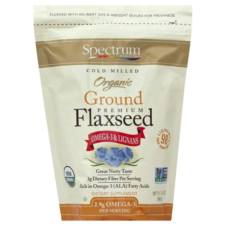 Spectrum Essentials Organic Ground Flaxseed & Omega-3 Supplement, 14