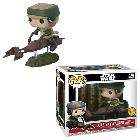 Funko Pop Deluxe Star Wars Luke on Speeder Bike Chase Collectible Vinyl (14 Deluxe Framed Collectible)