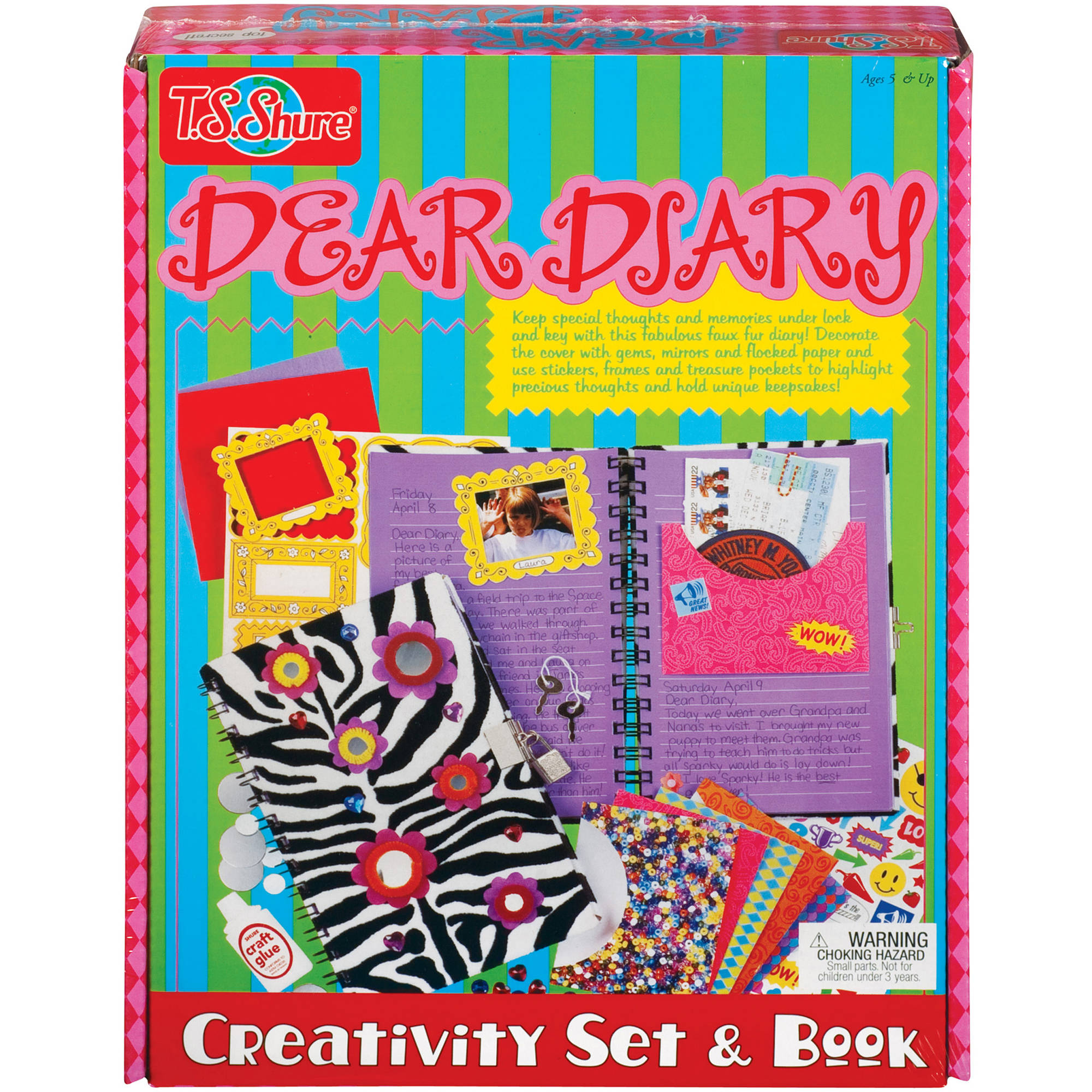 T.S. Shure Dear Diary Creativity Set and Book