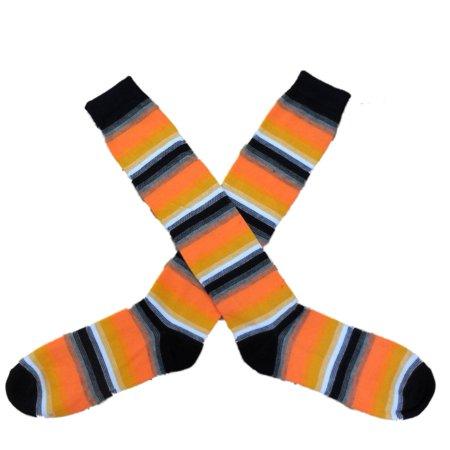 2aa56e16d97 My Halloween - My Halloween Womens Long Orange   Black Candycorn Stripe Knee  Socks - Walmart.com