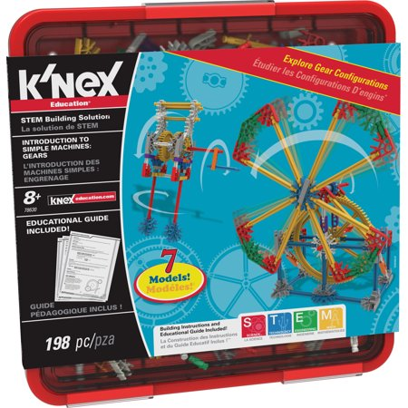 K'NEX Education - Intro to Simple Machines: Gears Set - 198 Pieces - Grades 3-5 - Engineering Education - Girls Engineering Toys