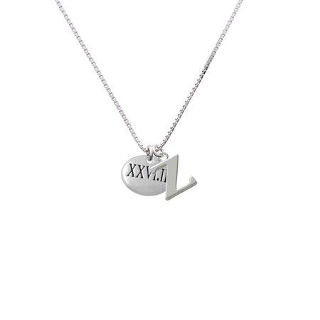 Marathon Necklace (Marathon Roman Numeral - Z - Initial Necklace )