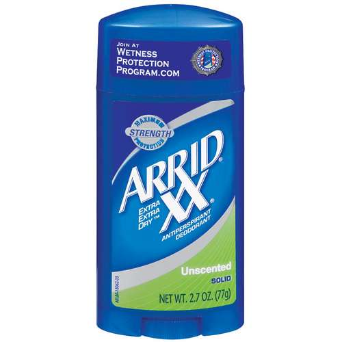 Arrid XX Unscented Maximum Strength Solid Extra Extra Dry Anti-Perspirant/Deodorant, 2.7 Oz