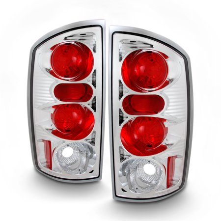 Fits 02-06 Dodge Ram 1500 03-06 Ram 2500/3500 Pickup Clear Tail Lights Lamp Pair