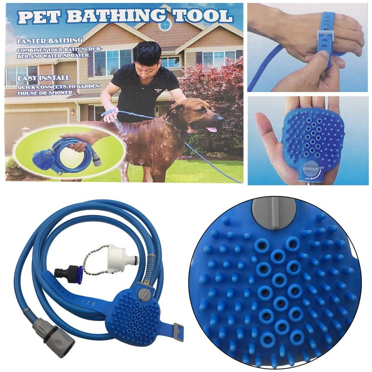 Pets Bath Spray Dog Cat Bath Shower Pet Animal Water Sprayer Sprinkler Cleaning Bathing Pet Massage Device Bathing Tool