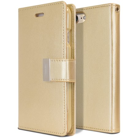 Iphone 7 Case   Tri Fold Wallet Case  Goospery  Rich Diary  Drop Protection  Soft Premium Pu Luxury Leather Case W  Tpu Casing  Id Card   Cash Slots  Cover For Apple Iphone 7  4 7