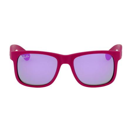 Ray-Ban Justin Color Mix Nylon Frame Mirror Violet Lens Unisex Sunglasses RB4165