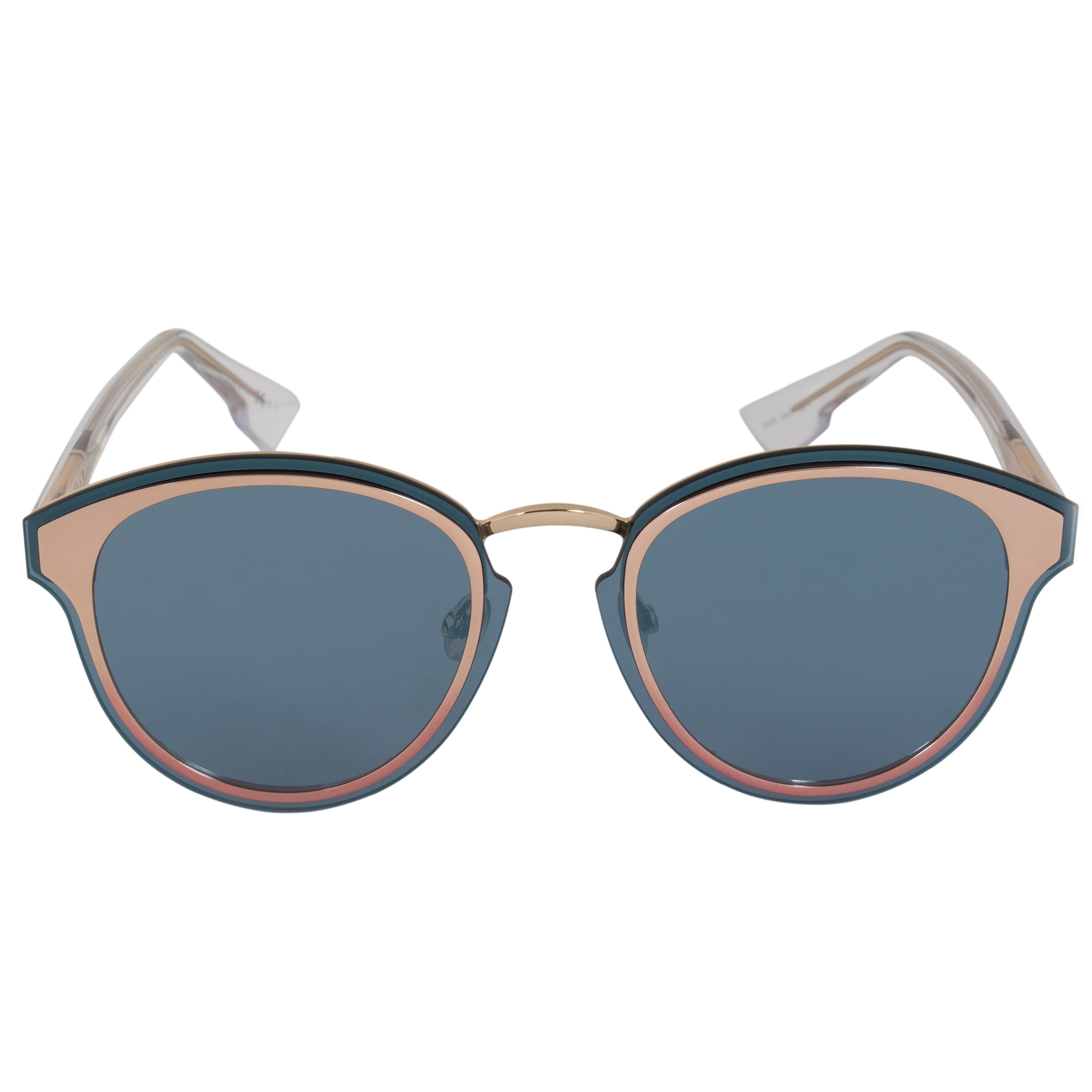 e0075e0ce Dior - Christian Dior Nightfall Sunglasses 35J2A 65 | Rose Gold Frame |  Blue Mirrored Lenses - Walmart.com