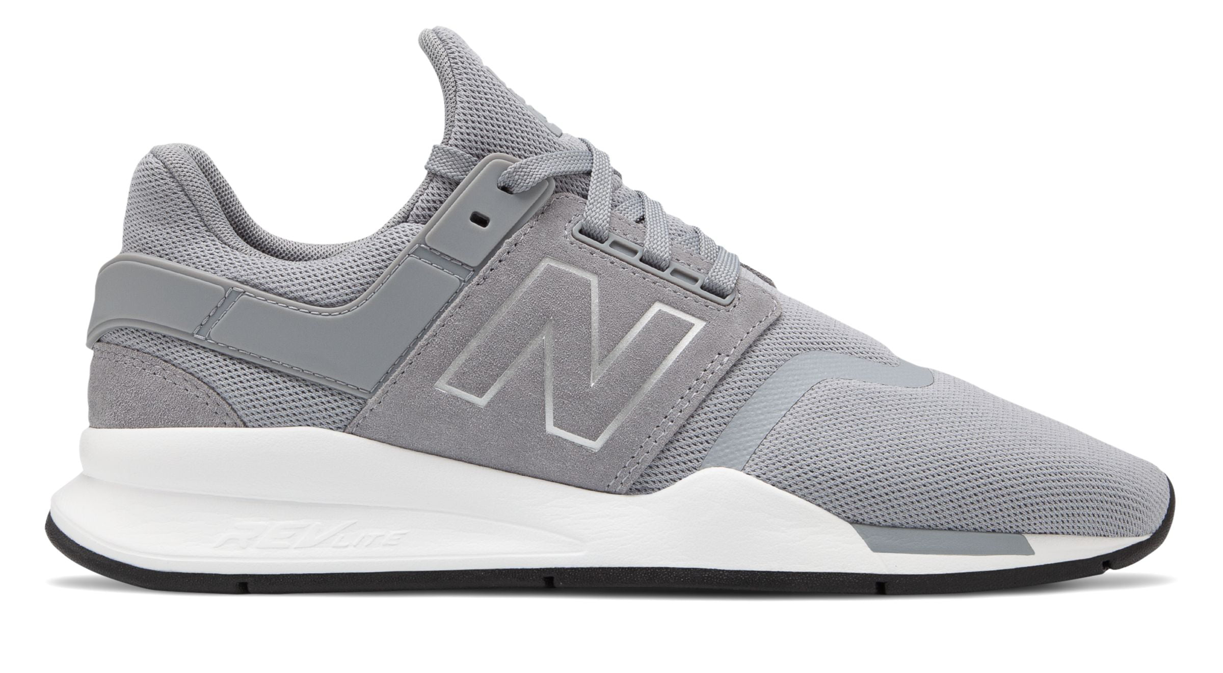Balance Men's 247 Shoes Grey with White