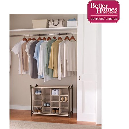 Better Homes And Gardens 16 Pair Shoe Organizer Fresh Ivory