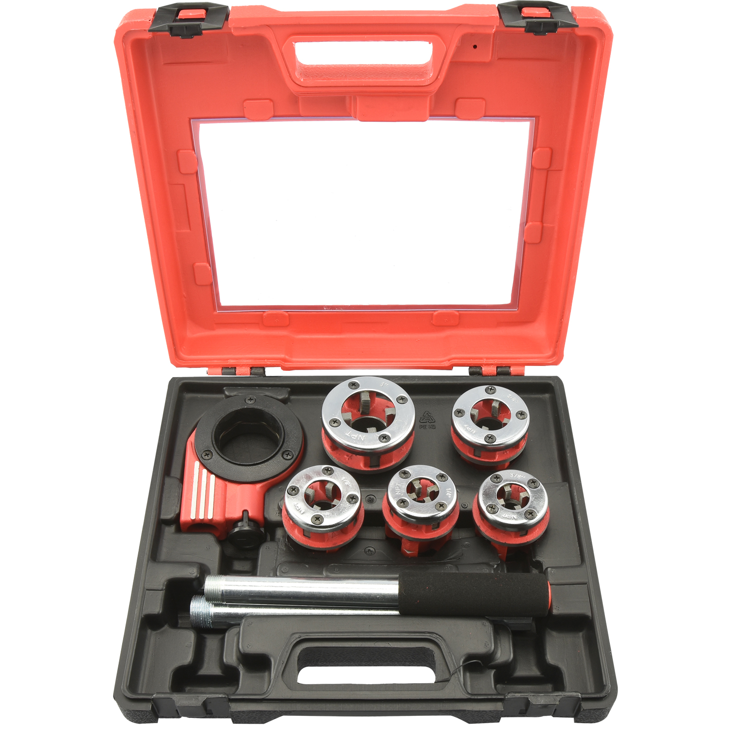 Neiko Pipe Threader | 9pc Heavy Duty Ratcheting Die Set for Plumbing DIY Plumber Tool