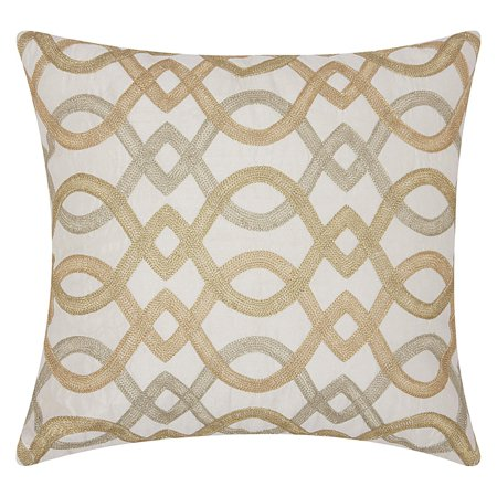 Nourison Luminecence Embroidery Geometric Lattice Decorative Throw Pillow, 18