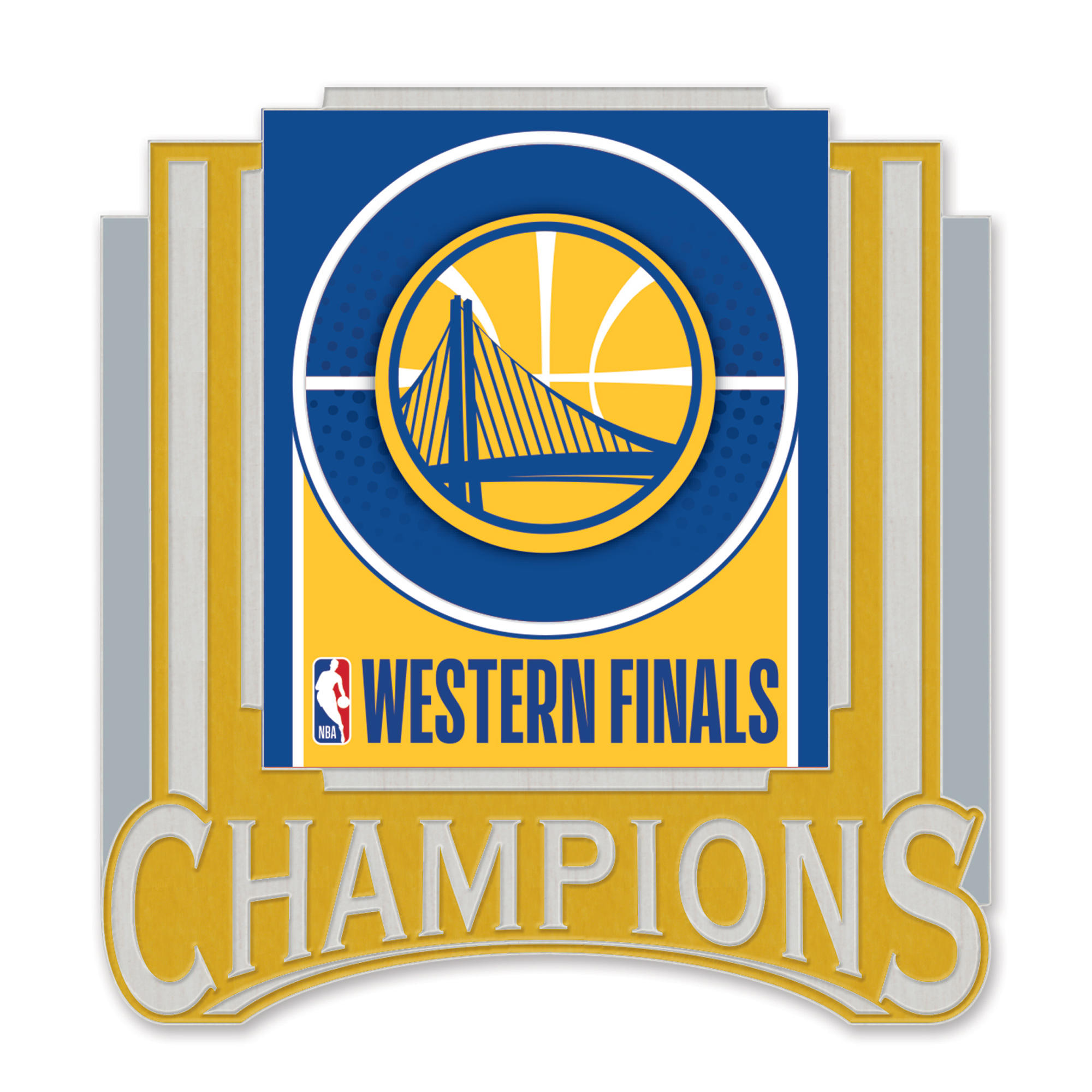 Golden State Warriors WinCraft 2018 Western Conference Champions Collector Pin - No Size
