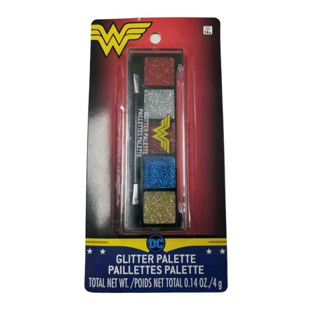 Wonder Woman Glitter Palette Makeup Costmetic Kit Costume Accessory - Make Beetlejuice Costume