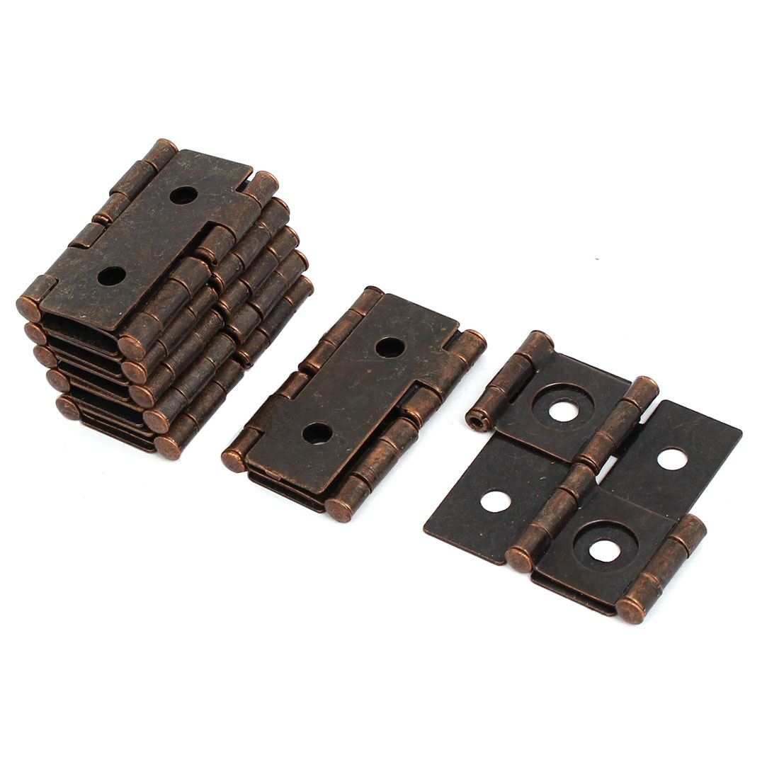 47mmx45mmx5mm Antique Style Double Acting Folding Screen Hinge Copper Tone 8pcs