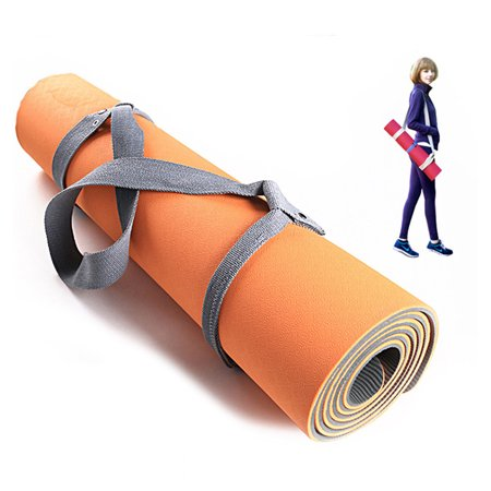 LeKing Portable Fitness Mat Portable Yoga Mat Elastic Bands Strap Linen Mat for Sports - image 8 of 9