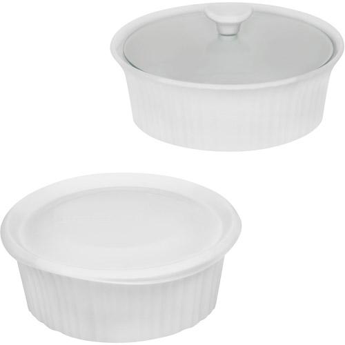 CorningWare French White III 4-Piece Bakeware Set