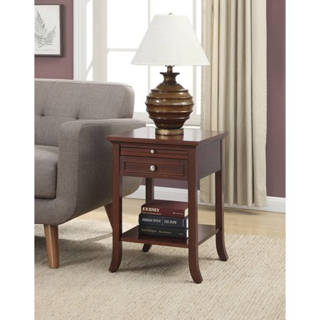 Convenience Concepts American Heritage Logan End Table With Drawer And Slide  Multiple Colors