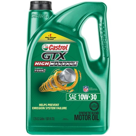 Castrol gtx high mileage 10w 30 synthetic blend motor oil for Best high mileage synthetic motor oil