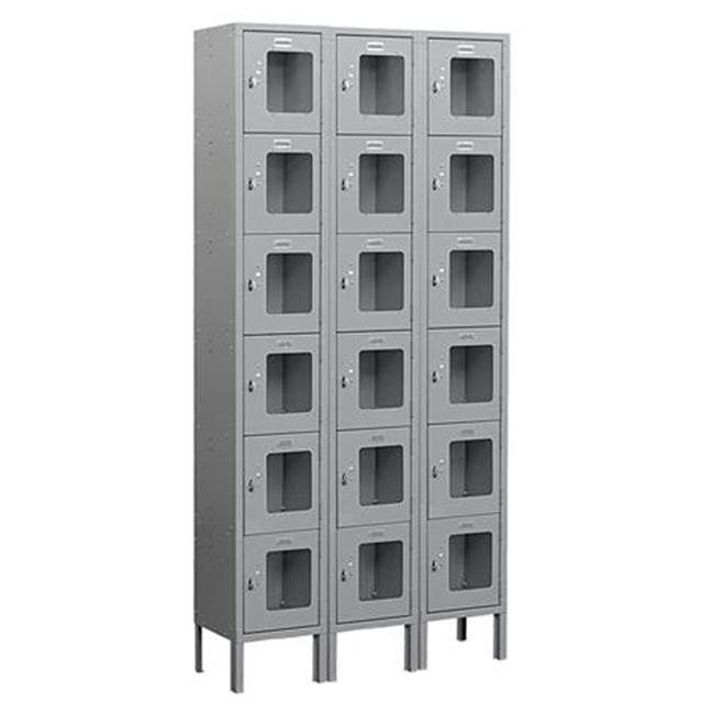 Salsbury Industries See-Through Metal Locker - Six Tier Box Style - 3 Wide - Una