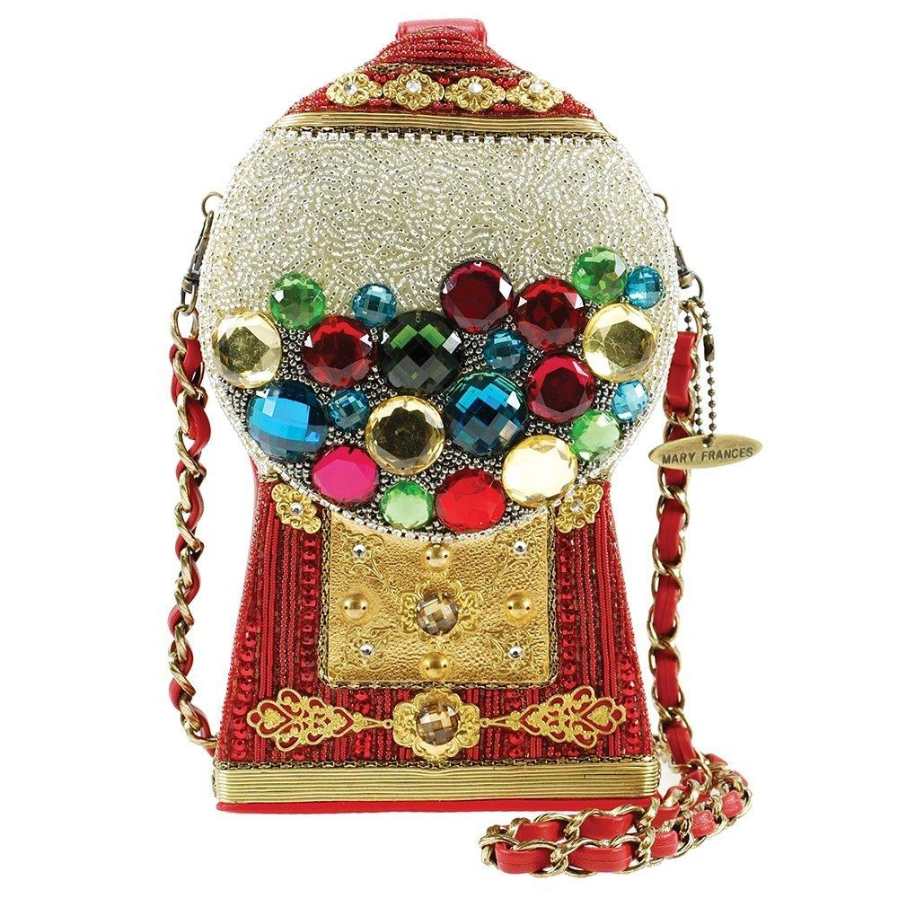 mary frances bubble gum beaded gumball machine novelty crossbody handbag