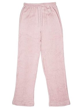 North 15 - Girls Super Cozy Plaid Minky Fleece Pajama Bottom Lounge Pants-L1527G-Design8-7
