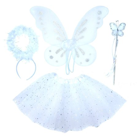 Girls Angel Fairy Costume Age 3-7 - Middle Ages Costumes