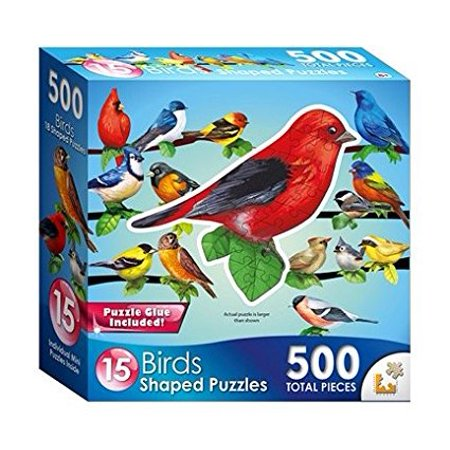 Song Birds II 15 Mini Shaped Puzzles 500 Piece Total By, Age: 8+ By Lafayette Puzzle Factory ()