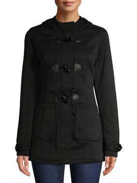 Yoki Women's Fleece Hooded Jacket With Toggle
