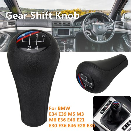 5 Speed Leather Gear Shift Knob For BMW 1 3 5 6 Series E34 gearshiftknob E39 M5 M3 M6 E36 E46 E21