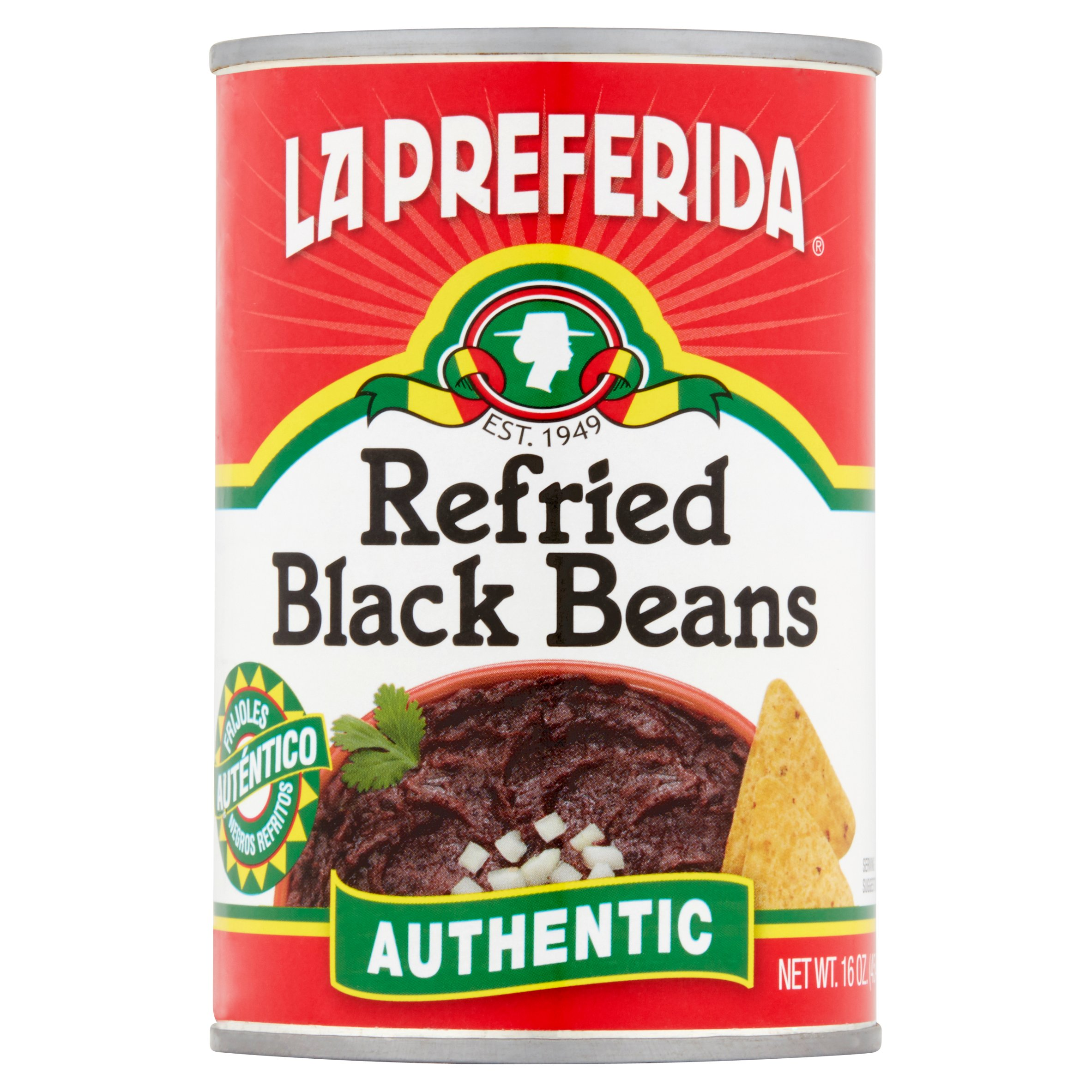 La Preferida Authentic Refried Black Beans, 16 Oz