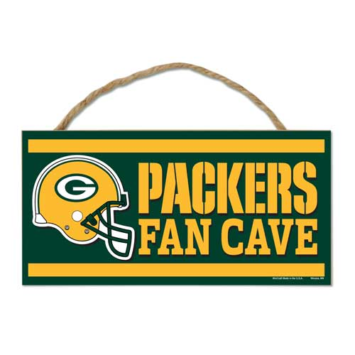 Green Bay Packers 5 x 10 Fan Cave sign with Rope""