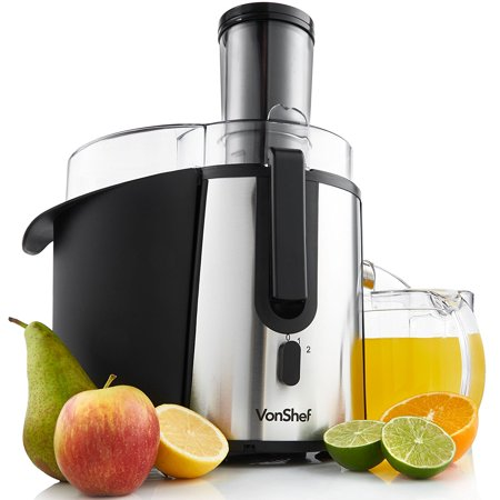 VonShef Professional Powerful Wide Mouth Whole Fruit Juicer Machine 700W Max Power