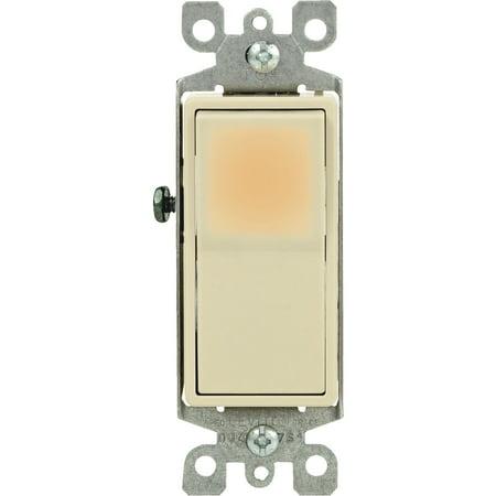 Leviton Decora Illuminated Rocker Single Pole (Single Pole Decora Rocker Switch)