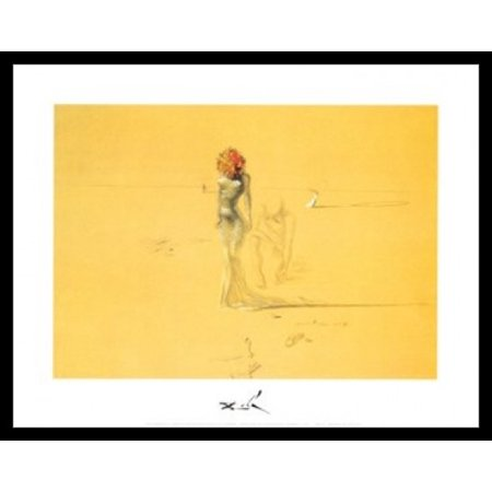 Female Figure with Head of Flowers c1937 - Salvador Dali Poster Poster