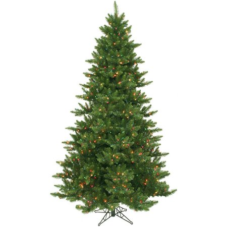 (Vickerman Pre-Lit 7.5' Camdon Fir Artificial Christmas Tree, LED, Multicolor Lights)