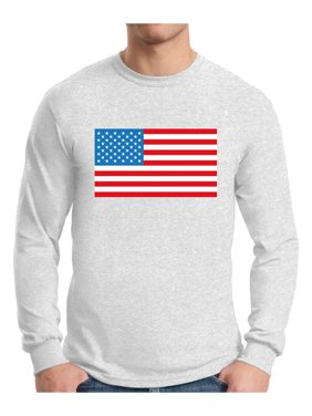 ceed5f91a0208 Product Image Awkward Styles Men s American Flag Graphic Long Sleeve T-shirt  Tops USA Flag Patriotic