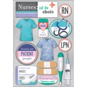 Cardstock Stickers-Nurses