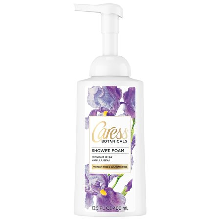 (2 pack) Caress Botanicals Midnight Iris and Vanilla Bean Shower Foam, 13.5 oz ()