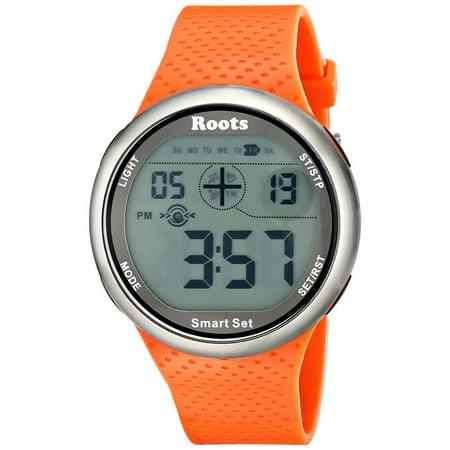 Sport Watch, Oversized Easy-to-read Digital Display Wrist Quartz Watches, Orange