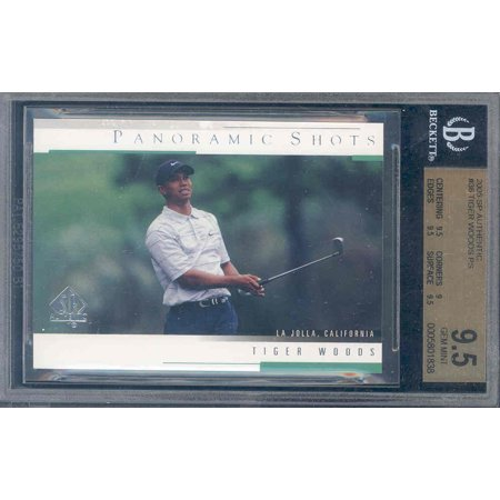 2005 Sp Authentic Jersey (2005 sp authentic #36 TIGER WOODS PS golf BGS)