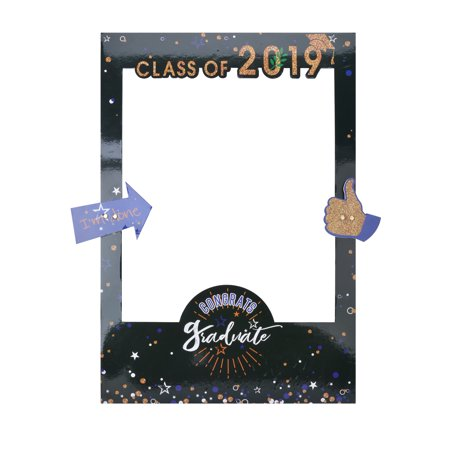 2019 Graduation Selfie Frame, Creative Paper Picture Frame Cutout Photo Booth Prop for 2019 Graduation Gifts Decorations Party Supplies](Graduation Gift)
