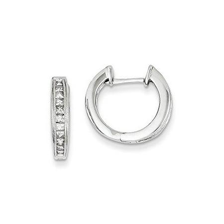 14K White Gold Diamond Round Huggie Hoop Earrings (0.50 CTTW, I-J Color, I2-I3 - Diamond Color Clarity Chart