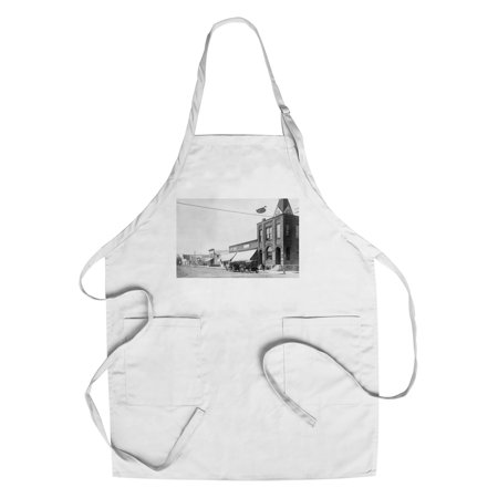 Correctionville  Iowa   View Of Merchants State Bank Bldg  Cotton Polyester Chefs Apron