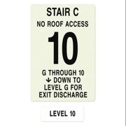 INTERSIGN NFPA-PVC1812(CGN10) NFPASgn,Stair Id C,Flrs Srvd G to 10 G0263028