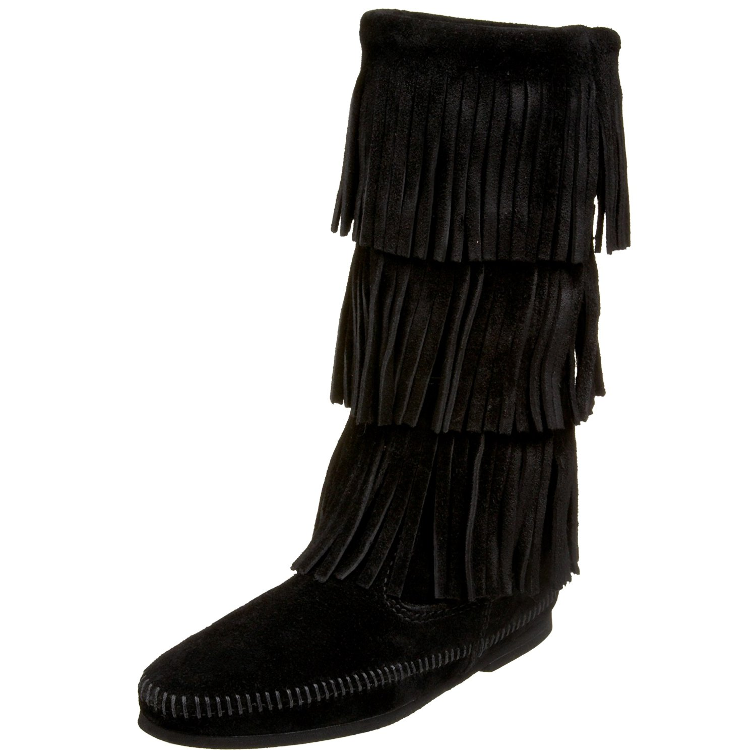 Minnetonka Women's 3-Layer Fringe Boot by Minnetonka Moccasin Company, Inc.