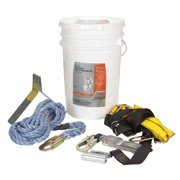 Safety Works Unisex Polyester Fall Protection Kit Assorted 1 pc.