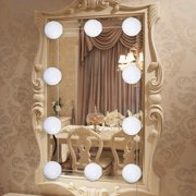 ESYNIC 10Bulbs Vanity LED Mirror Light Kit for Makeup Hollywood Mirror with Light 4000K