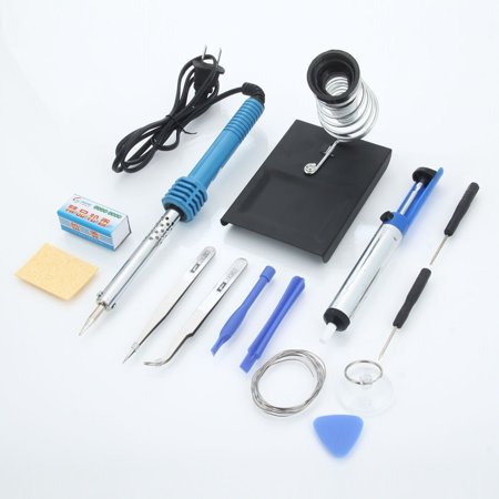 New MTN-G 14in1 Electric 110V 60W Rework Soldering Tools Kit w/ Desolder Pump Iron Stand