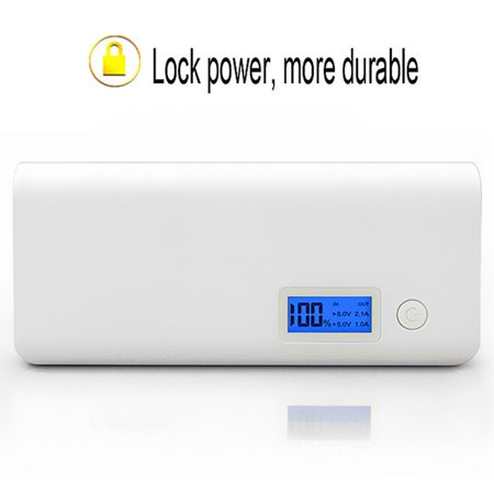 USB Charging Device LCD Display Screen Dual Output Port 8000mAh Capacity Power Bank Mobile Phone Charger External Battery - image 9 de 13